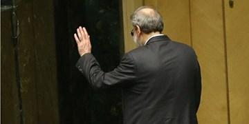 علی لاریجانی با صندلی ریاست خداحافظی کرد