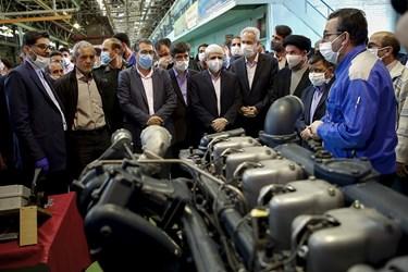 مراسم افتتاح خط تولید موتور دیزل 355 و 457 خودرو های تجاری ایدم با حضوردکتر رضا رحمانی وزیر صنعت ، معدن و تجارت /تبریز