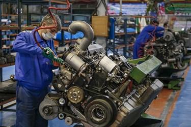موتور457 خودرو های تجاری ایدم در مدار خط تولید /تبریز
