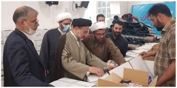 بازدید حجت الاسلام خاموشی از آمادهسازی ۱۰۰هزار بسته معیشتی در امامزاده عبداللّه(ع) شهرری