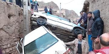تخریب ۱۰۰ درصدی برخی منازل روستایی قوچان در سیلاب عصر جمعه