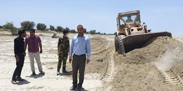 رفع تصرف 46 هکتار از اراضی ملی در میناب+عکس
