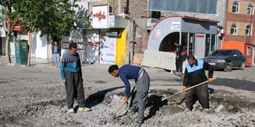آغاز فاز اول اجرای طرح پیاده راه خیابان فردوسی سنندج+فیلم و عکس