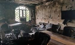 اداره امور مالیاتی بندر امام خمینی به آتش کشیده شد
