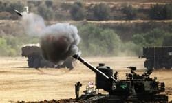 حمله توپخانهای و پهپادی رژیم صهیونیستی به جنوب و مرکز نوار غزه