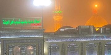 طوفان شدید در بینالحرمین/ زائران به حرمهای شریف پناه بردند +فیلم