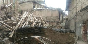 تخریبها در روستای کنگ توسط اهالی این روستا برای بازسازی منازل انجام شده است