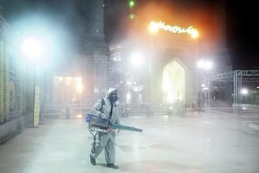 عملیات ضدعفونی حرم امامزاده صالح(ع)