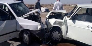 5 مصدوم در تصادف پیکان و پراید