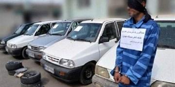 سارق محتویات خودرو با ۷۰ فقره سرقت در گچساران دستگیر شد