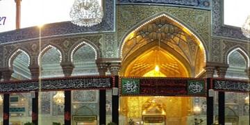 حرم سیدالشهدا (ع) در سوگ امیرالمؤمنین (ع) رخت عزا پوشید + فیلم