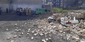 ریزش ساختمان 6 مصدوم برجا گذاشت