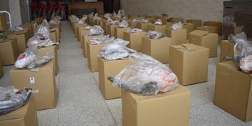 توزیع 200 بسته کمک معیشتی به مددجویان و اقشار آسیبپذیر بهاباد