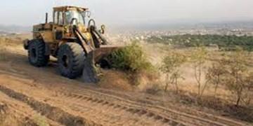 گشت مشترک در گرمه در مقابله  با تصرفات غیرقانونی اراضی