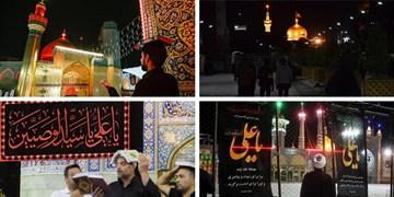 سومین شب قدر متفاوت در حرمهای شریف/ حضور زائران پشت درهای بسته +عکس و فیلم