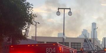 فیلم  | مجروح شدن 11 آتشنشان بر اثر انفجار در لسآنجلس