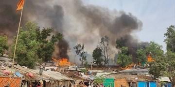 اردوگاه مسلمانان روهینگیا در بنگلادش باز هم طعمه حریق شد