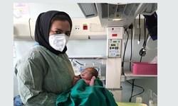 تولد نخستین نوزاد در بیمارستان فرقانی پس از خروج از چرخه درمان بیماران کرونایی