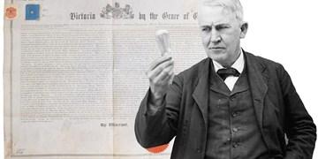 گواهی ثبت اختراع لامپ برق ادیسون 75 هزار دلار فروخته شد