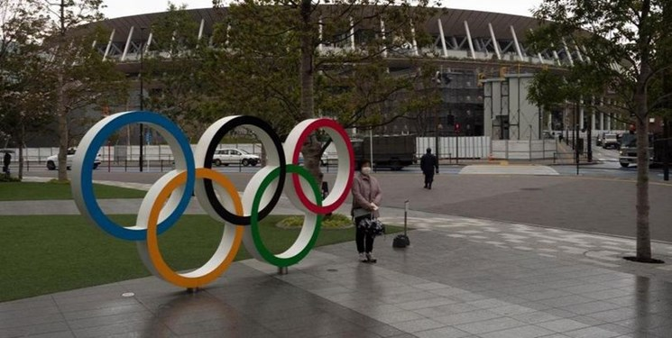 یادبود حلقه های المپیک از توکیو برداشته شد