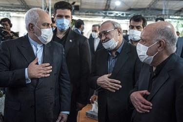حضور محمد جواد ظریف وزیر امور خارجه در مراسم یادبود مرحوم حسین کاظمپور اردبیلی