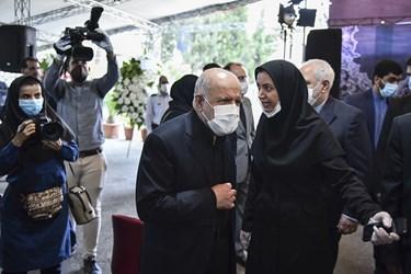 حضور بیژن زنگنه در مراسم یادبود مرحوم حسین کاظمپور اردبیلی