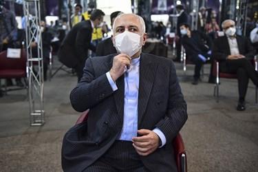 محمد جواد ظریف وزیر امور خارجه در مراسم یادبود مرحوم حسین کاظمپور اردبیلی