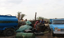 آغاز عملیات پاکسازی روستاهای عنبرآباد از قاچاق سوخت/کشف 100 هزار لیتر سوخت