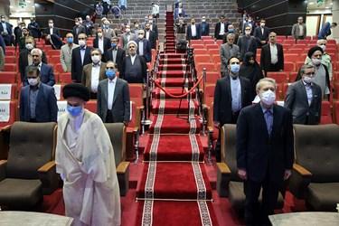 نخستین نشست شورای اداری استان قم در سال جاری و همچنین آیین تکریم خدمات و تلاشهای علی لاریجانی در سه دوره نمایندگی مردم قم در مجلس