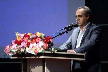 سخنرانی بهرام سرمست استاندار قم در آیین تکریم علی لاریجانی در سه دوره نمایندگی مردم قم در مجلس شورای اسلامی