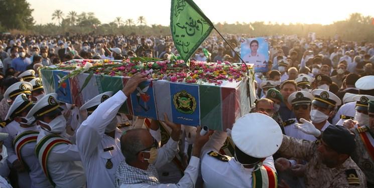 شهید حادثه کنارک در زادگاهش نظرآقا به خاک سپرده شد