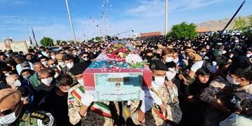 تشییع پیکر شهید حادثه ناوچه کنارک در خراسان شمالی