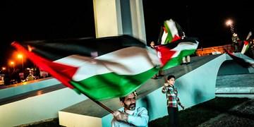 گزارش تصویری| حضور شهروندان مشهد در حمايت از مردم مظلوم فلسطين در ميدان فلسطين