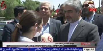 سفیر ایران در سوریه بر آزادسازی ملت فلسطین از چنگال رژیم صهیونیستی تأکید کرد