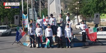 اجرای گروه سرود خیابانی در سیسخت به مناسبت روز قدس+تصاویر