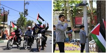 اجرای برنامههای نمادین بسیجیان طرقبه در روز  جهانی قدس+ فیلم