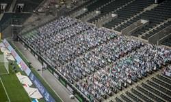 13 هزار تماشاگر ماکتی در ورزشگاه مونشن گلادباخ+تصاویر
