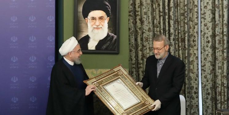 تجلیل روحانی از همراهیها و همدلیهای علی لاریجانی با دولت