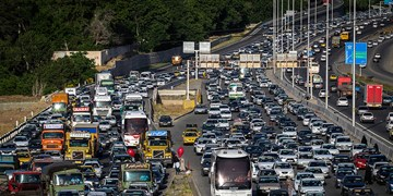 ترافیک سنگین در آزادراه قزوین-کرج/اعمال محدودیت ترافیکی در قطعه ای از محور هراز