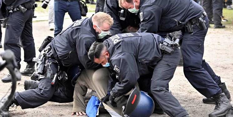 تظاهرات ضد قرنطینهای در اروپا؛ پلیس آلمان ۶۰ نفر را بازداشت کرد