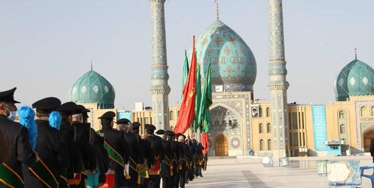 گشایش دربهای مسجد مقدس جمکران با حضور خانواده شهدا