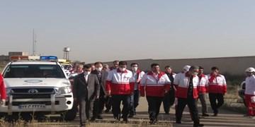 بازدید رئیس جمعیت هلال احمر کشور از انبارهای هلال احمر استان البرز/مطالبات سیمان آبیک پرداخت میشود