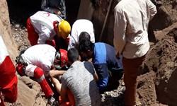 نجات کارگر افغانستانی  گرفتار در چاه در رفسنجان