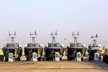 آیین الحاق بیش از ۱۰۰ فروند شناور به نیروی دریایی سپاه