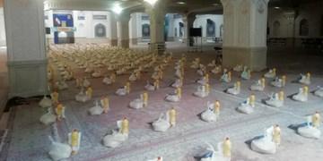 توزیع ۵۰۰ بسته غذایی میان نیازمندان بههمت هیأت رایة المهدی اردبیل