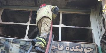 حریق کارگاه چوب در جنوب تهران مهار شد