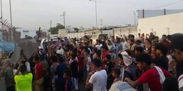 اعتراضات مردمی علیه گروه وابسته به امارات و عربستان در شهر عدن
