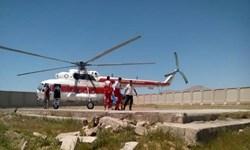 اعزام نیرو همراه تجهیزات توسط بالگرد جمعیت هلال احمر گلستان