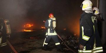 آتش سوزی در انبارهای شرکت فولاد خوزستان