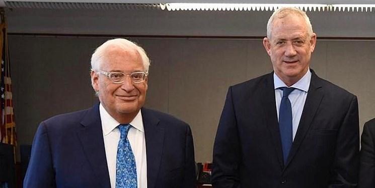 دیدار وزیر جنگ رژیم صهیونیستی با سفیر آمریکا در فلسطین اشغالی